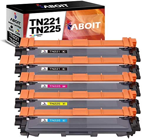 ABOIT Compatible TN221 Toner Cartridge Replacement for Brother TN221 TN225 TN 221 TN 225 for product image