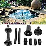 Kit de boquillas de bomba de fuente 9PCS / Set, juego de cabeza de fuente de cascada de estanque de jardín, boquillas de plástico con pantalla de agua multifunción
