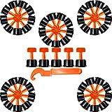 Sistema Nivelación Azulejos, 50 Piezas Sistema de Nivelación de Baldosas, Nivelador Baldosas Ajustador, Espaciador de Nivelación de Azulejos, Niveladores de Azulejos, para Construcción Paredes, Pisos