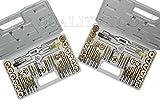 Vector Tools Tap and Die Set, Premium, SAE & METRIC, Titanium Coated, 80-Piece