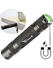 WISSBLUE X2 スーパーブライト LED 懐中電灯, 1600LMの充電式 磁気懐中電灯, 防水便携式フラッシュライト18650 ライト, 防災用品/災害/自転車にも/防災ライト