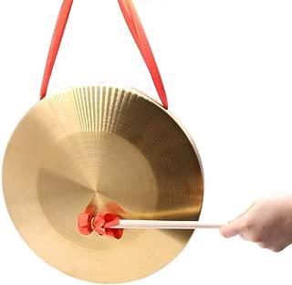 ACHICOO カッパーゴング 手銅ゴング 15.5センチ/ 6インチ ドラムスティック ミニスラミング楽器 音楽おもちゃ 子供