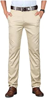 Howely Men's Comfortable Stretch Solid Pleat-Front Easy Care Dress Pant