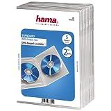 Hama - Carcasas Dobles para DVD (5 Unidades), Transparente