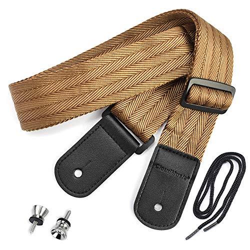 CLOUDMUSIC Ukulele Strap Cotton Woven Seatbelt Strap For Soprano Concert Tenor Baritone(Black)