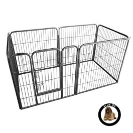 Ellie-Bo Heavy Duty Modular Puppy Exercise Play/Whelping Pen