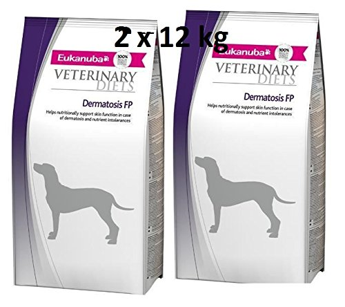 Eukanuba Dermatosis - Dietas veterinarias (2 x 12 kg = 24 kg) ⭐