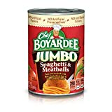 Chef Boyardee Jumbo Spaghetti and Meatballs, 14.5 oz