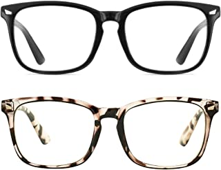 Fashion Square Nerd Clear Glasses Frame for Men Women, Non-prescription Transparent Lens Fake Eyeglasses