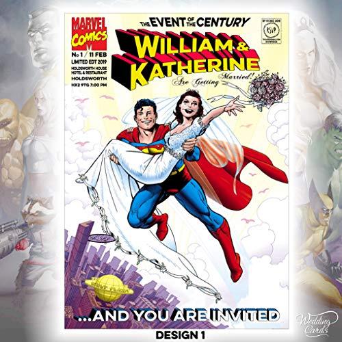Superman & Lois Batman & Catwomen Fantástico 4 Marvel Comics boda cumpleaños...