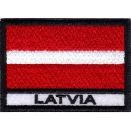 Aufnäher Lettland Flagge 7 x 5 cm Stickerei Lativa -035