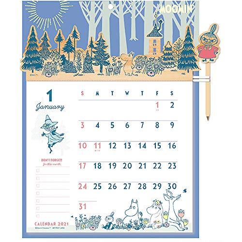 2021年 ウッドヘッダーカレンダー/ムーミン(壁掛け) 1000116056 vol.201