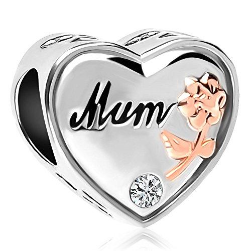 Sug Jasmin - Abalorio para pulsera de abalorios europea, diseño con texto