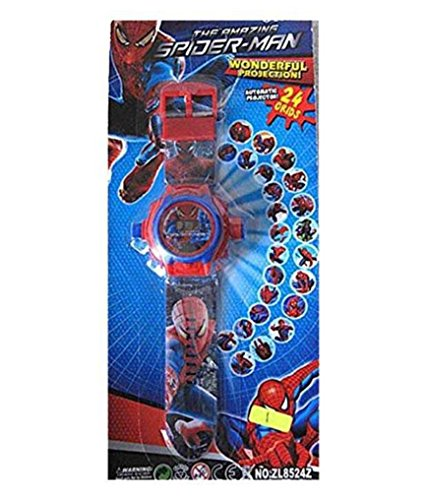 Spider-man cartoon images Projector Watch Kids Digital Wrist Watch cartoon character watch