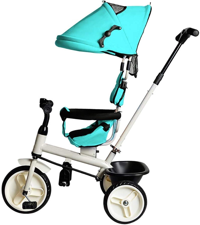 toma NBgy Triciclo, Triciclo, Triciclo, Triciclo Multifuncional 4 En 1 Sin Asiento Giratorio, Triciclo para Bebés, 2 Colors, 94x92x57cm (Color   Azul)  precios al por mayor
