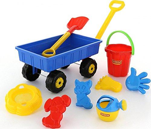 Legler 8785 - Sandspielzeug - Handwagen-Set, 9-teilig