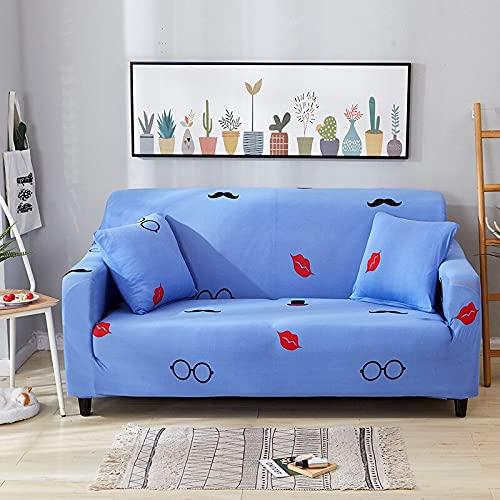 WXQY Fundas elásticas para sofá, adecuadas para la Sala de Estar, sofá elástico, Funda Ajustada, Funda de Esquina para sofá Modular con Todo Incluido, A9, 3 plazas