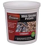 Smoking Wood Pellets (Cherry)- Kiln Dried BBQ Pellets- 100% All Natural Barbecue Smoker Chips- 1 Pint Bucket