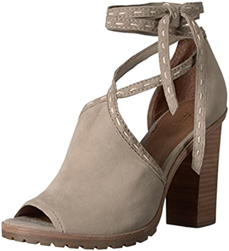 FRYE damen& 039;s Suzie Pickstitch Lug Heeled Sandal, Ash, 9.5 M US