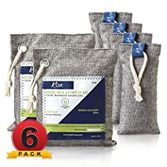 MEGA-VALUE ODOR NEUTRALIZER 6-PACK: The Kisx activated charcoal bags set is here to give you more bang for your buck and help you keep your home smelling great. Our charcoal bags odor absorber set is versatile for all spaces. NATURAL AIR PURIFIER BAG...