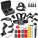 31-in-1 Action Camera Mount Sports Camera Kit Attachments Action Camera Accessories Kit for Akaso EK7000/Wewdigi EV5000/GoPro Hero 6 Hero 5 Black Session 7 6 5 4 3+ 3 2 1 and More