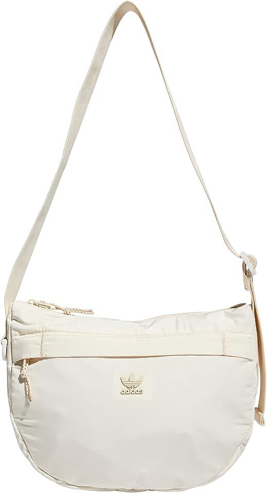 adidas Originals Courtside Crossbody Bag, Wonder White/Gold Metallic, One Size