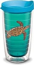 Tervis GH-I-16-SETU-EL Guy Harvey Sea Turtle Emerald Tumbler with Turquoise Lid, 470ml