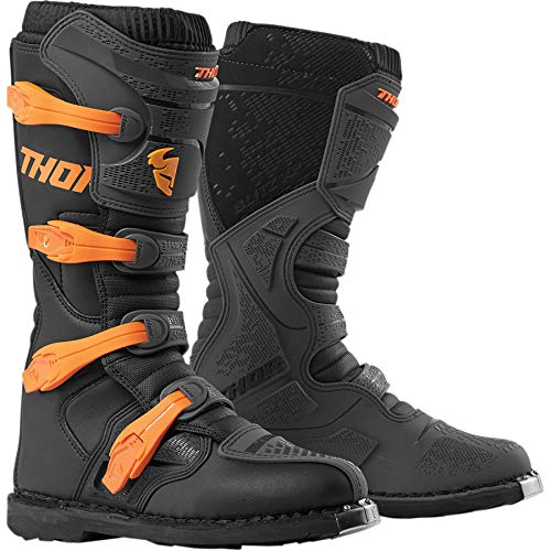 Thor Blitz XP Boots Stiefel Enduro Motocross MX Charcoal orange 2019, Größe: Größe 8 (EU 42)