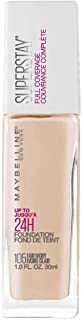 Maybelline New York Super Stay Full Coverage Liquid Foundation Makeup, Fair Ivory, 1 Fl Oz