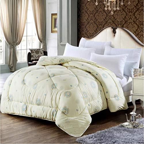 Comforter Duvet Wool Quilt Queen Full Twin Size Blanket-beige_200X230CM_3KG
