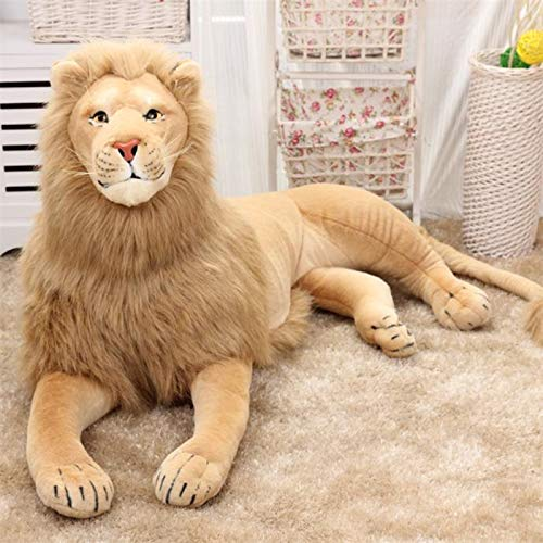 N / A Lion Plush Toys Stuffed Doll Simulation Animal Kids Baby Toy Home Decoration Craft Christmas Birthday Gifts Length-32cm