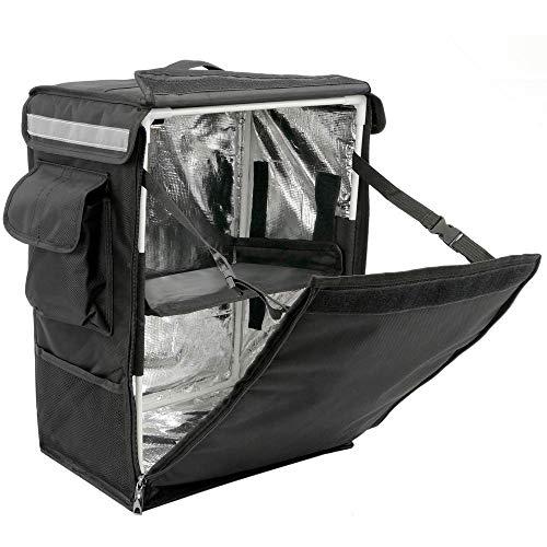 CityBAG - Mochila isotérmica 35 x 49 x 25 cm Negra para Comidas al Aire Libre y Entrega de Pedidos de Comida en Moto o Bicicleta