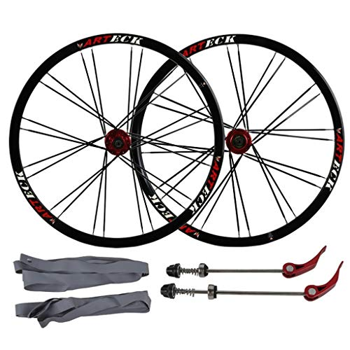 NS Ultraligero 26 Pulgadas Bicicletas Ruedas, MTB aleación de Aluminio de la Pared del Doble del Borde Freno Disco Sellado Rodamientos Compatible 8/9/10 Velocidad Actuación (Size : 26inch)