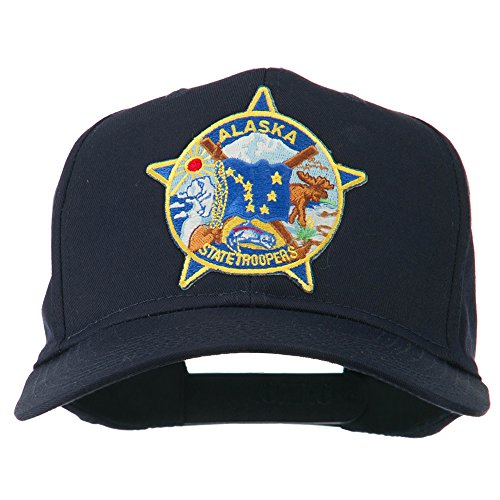 e4Hats.com Alaska State Troopers Patch Cap - Navy OSFM