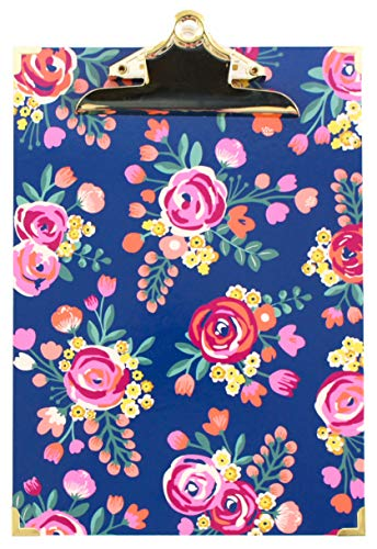 bloom daily planners Letter Size Clipboard - 9' Wide x 12.5' Tall - Vintage Floral