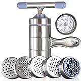 ltlclz noodle maker macchina portable con 6 template manuale azionato in acciaio inossidabile robusto creatore di pasta fatta in casa per freschi fettuccine spaghetti lasagne pasta