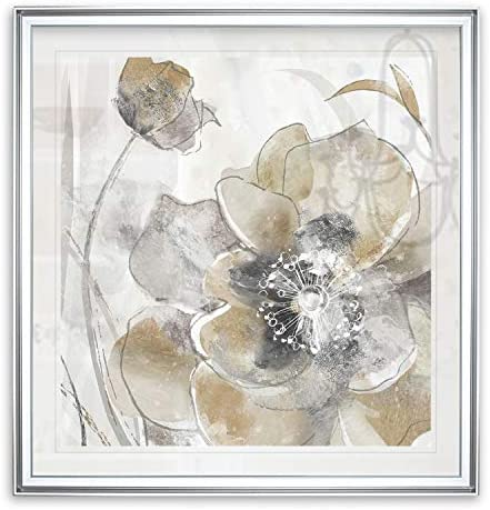 Renditions Gallery Taupe Spring Poppy I Flower Framed Contemporary Artwork Landscape Painting product image