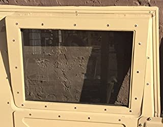 (1) CLEAR ORIGINAL HUMVEE (TM) X-DOOR REPLACEMENT WINDOW GLASS - M998 HMMWV