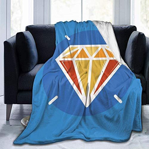 MODORSAN Blue Diamond Throw Blanket Super Soft Comfy Micro 50'x40' Manta borrosa de Forro Polar Manta Decorativa Manta Ligera y acogedora para sofá Cama