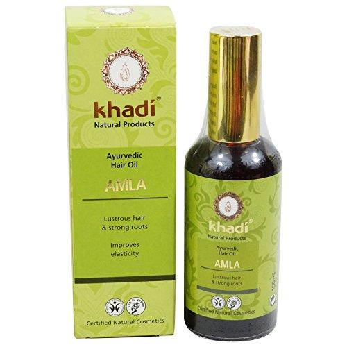 KHADI Aceite Capilar Amla - Trata el cabello dañado - Promueve el...