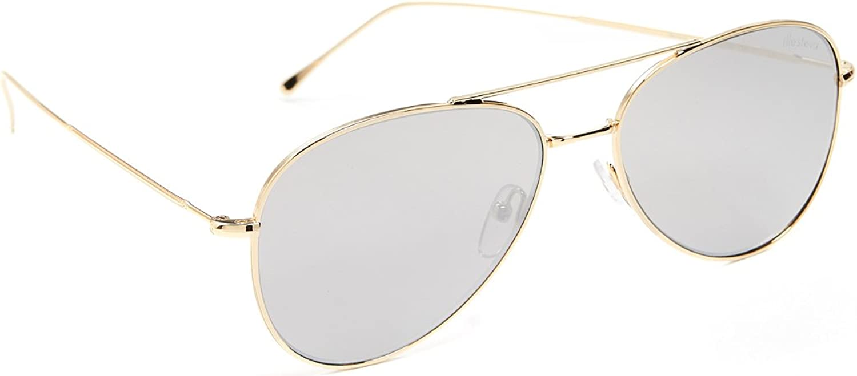Illesteva Wooster gold W WILVER Flat Mirror Lenses