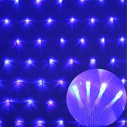 AQUYY LED zaklamp Fairy voor Kerstmis, 1,5 x 1,5 m, 96 LED's, 8 modi, kerstboom, tuin, feest, kerstverlichting