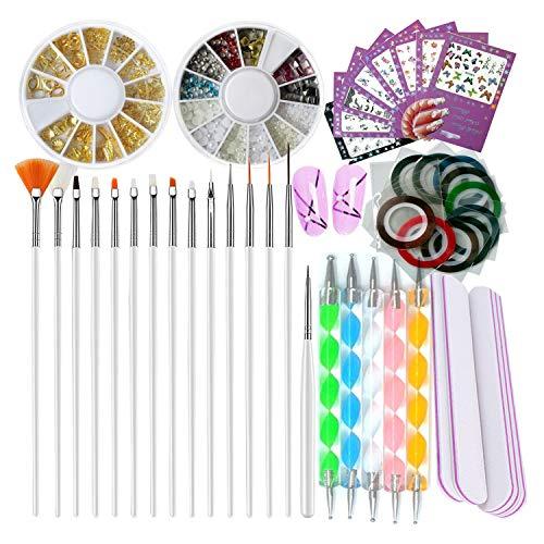 Nail Art Supplies Kit 15pc Gel...