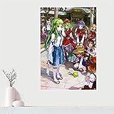 Yiwuyishi Personalizado Kochiya Sanae Lienzo Pintura de Pared Impresión de póster en Lienzo Cartel de Bricolaje Decoración de la Sala de Estudio de Estar 50x70cm P-1828