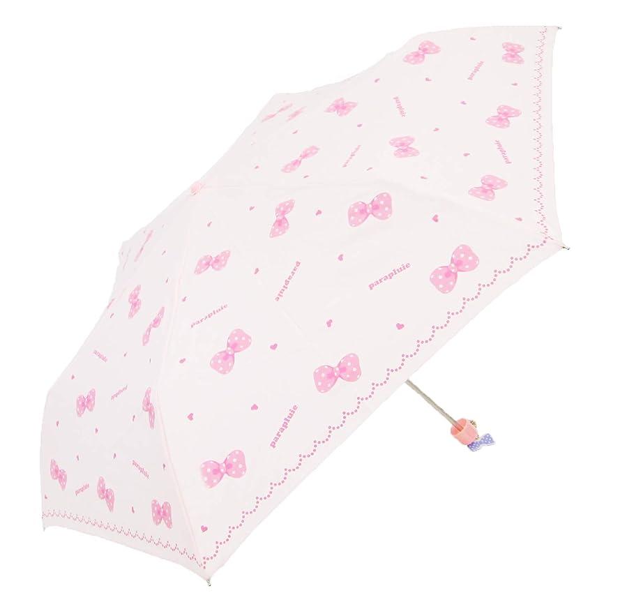 住人公園選ぶランドセルに入る かる~~いミニ傘! 約200g リボン総柄 (ピンク)