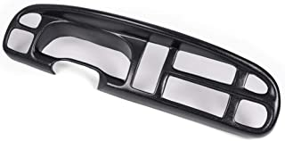 Plastic Textured Black Molded Dash Board Bezel Cap Cover Compatible For 1998-2001 Dodge Ram 1500/1998-2002 Dodge Ram 2500 Ram 3500 (Not a Replacement, Does Not Have Clips)
