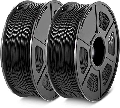 2Pack 3D Printer PLA Filament 1.75 High Quality, Fit FDM 3D Printer, 1KG Spool, Dimensional Accuracy +/- 0.02 MM