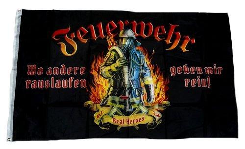 Fahne/Flagge Feuerwehr Real Heroes 90 x 150 cm