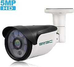 SV3C IP POE Camera Security Outdoor 5 Megapixels Super HD 2592x1944 H.265 Waterproof Cam Onvif IR Night Vision Motion Detection