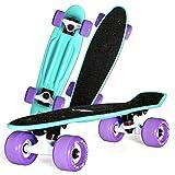 LYLSXY Skate Completo Monopatín Principiantes con Ruedas PU, Tabla De Skateboard para Niñas Niños Adolescentes Adultos (Color : Anqi Green)
